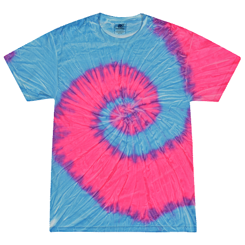 Flo Blue and Pink Adult Tie-Dye T-Shirt