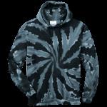 Black Tie-Dye Pullover Hooded Sweatshirt