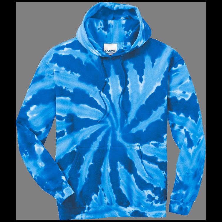 Royal Tie-Dye Pullover Hooded Sweatshirt
