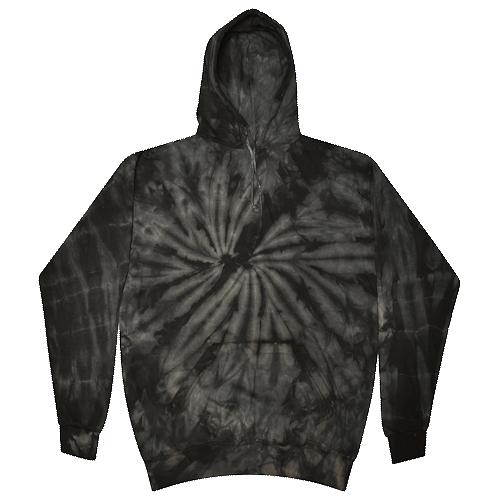Spider Black Tie-Dye Pullover Hooded Sweatshirt
