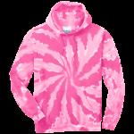 Pink Tie-Dye Pullover Hooded Sweatshirt