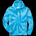 Turquoise Tie-Dye Pullover Hooded Sweatshirt