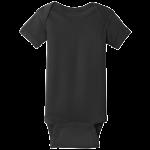Black (Infant Short Sleeve Baby Rib Bodysuit)