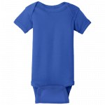 Royal Blue (Infant Short Sleeve Baby Rib Bodysuit)