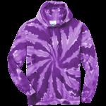 Purple Tie-Dye Pullover Hooded Sweatshirt
