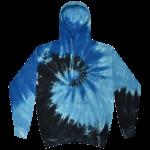 Blue Ocean Tie-Dye Pullover Hooded Sweatshirt