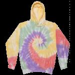 Zen Rainbow Tie-Dye Pullover Hooded Sweatshirt