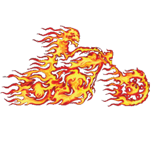Motorcycle (Flames)