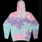 Cotton Candy Tie-Dye Pullover Hooded Sweatshirt