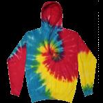 Reactive Rainbow Tie-Dye Pullover Hooded Sweatshirt