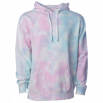 NEW Tie-Dyed (Cotton Candy) Midweight Pullover Hooded Sweatshirt