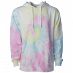 NEW Tie-Dyed (Sunset Swirl) Midweight Pullover Hooded Sweatshirt