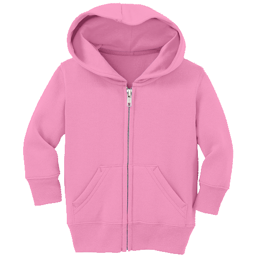 Candy Pink Infant/Toddler Full-Zip Hooded Sweatshirt