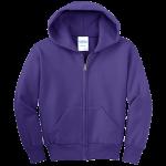 Purple Youth Full-Zip Hooded Sweatshirt