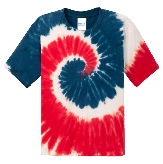 USA Rainbow Youth Tie Dye Tee