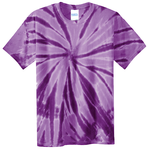Purple Youth Tie Dye Tee