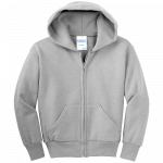 Ash Youth Full-Zip Hooded Sweatshirt