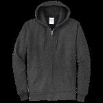 Dark Heather Gray Full-Zip Hooded Sweatshirt
