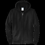 Jet Black Full-Zip Hooded Sweatshirt