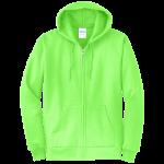 Neon Green Full-Zip Hooded Sweatshirt