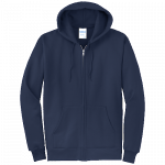 Navy Blue Full-Zip Hooded Sweatshirt