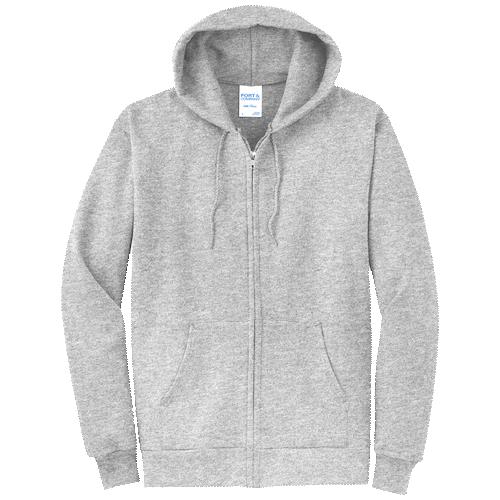 Ash Full-Zip Hooded Sweatshirt