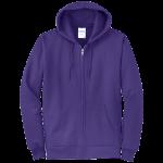Purple Full-Zip Hooded Sweatshirt