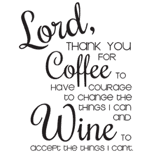 Coffee (Thank you for wine)