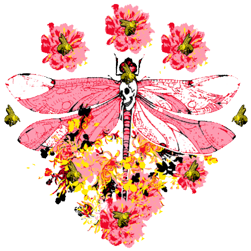Dragonfly (Pink/Flower)