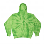 Tie Dye Spider Lime Youth Pullover Hooded Sweatshirt