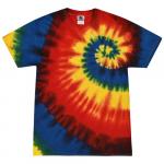 Rainbow Burst Adult Tie-Dye T-Shirt