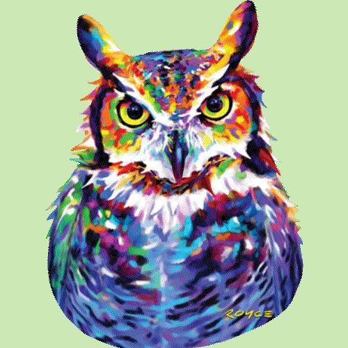Owl (Great Horned) Neon Light