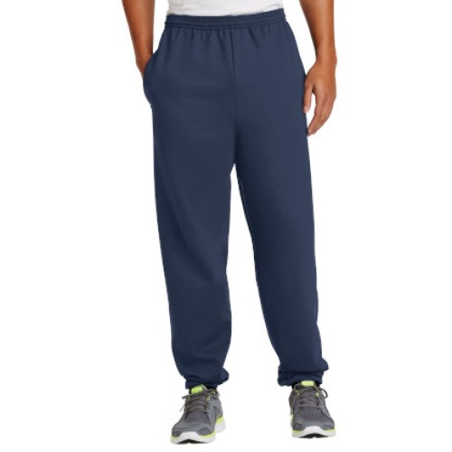 Navy Blue/Elastic Sweatpant with Pockets