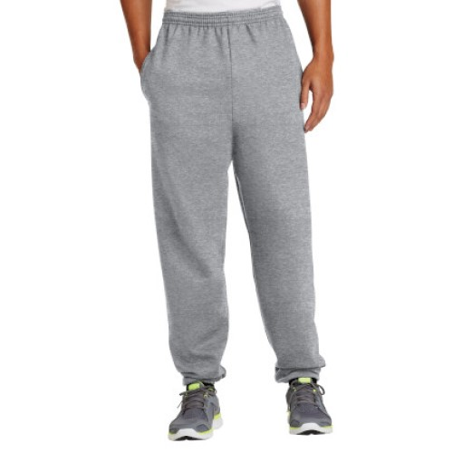 Athletic Heather/Elastic Sweatpant with Pockets