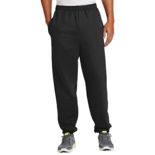 Jet Black/Elastic Sweatpant with Pockets