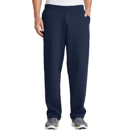Navy Blue/Open Cuff Sweatpant with Pockets
