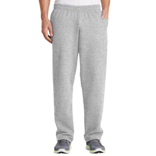 Ash/Open Cuff Sweatpant with Pockets