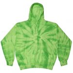 Spider Lime Tie-Dye Pullover Hooded Sweatshirt