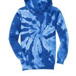 Tie Dye Royal Blue Youth Pullover Hooded Sweatshirt