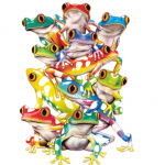Solar (Frogs) 6X9