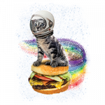 Cat (Rainbow Burger)