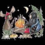 Bear (Toasting Marshmallows)