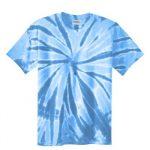 Light Blue Adult Tie-Dye T-Shirt