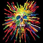 Skull (Neon black light) Splatter
