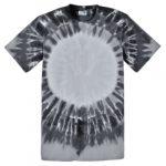 Black Circle Adult Tie-Dye T-Shirt