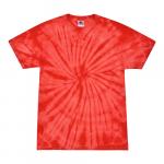 Spider Red Adult Tie-Dye T-Shirt