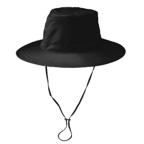 Brim Hat with cord (Black)