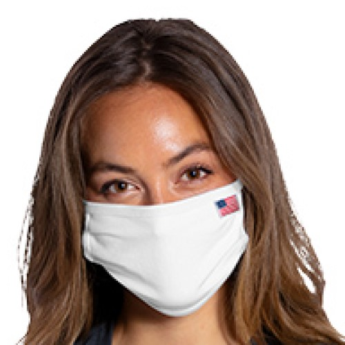 Blank 3-Ply Face Mask (All American embroidered Flag)