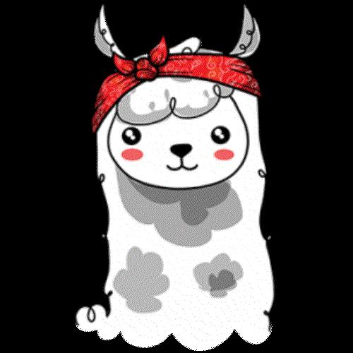 Llama In Bandana