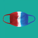 Blank Face Mask (Red White and Blue)
